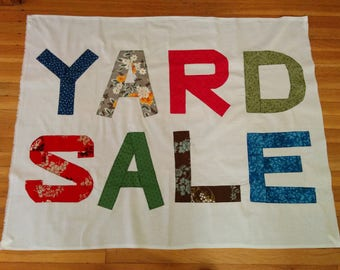Giant Square YARD SALE BANNER!