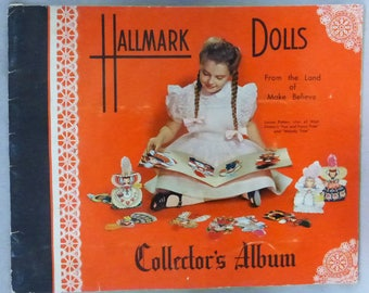 Vintage Mid Century Hallmark Doll Collector's Album with 3 Hallmark Cards