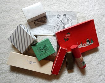 10 Assorted Vintage Gift Boxes - All Sizes - 1920 to 1960 - Jewelry & Hankie
