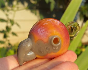 Serendipity Parrot Head Glass Pendant