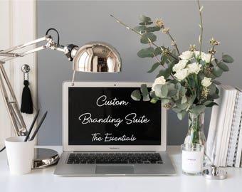 "Custom Branding Suite ""The Essentials"" - Logo Design - Small Business Tools - Facebook Cover Design - Business Cards - Branding Kit"