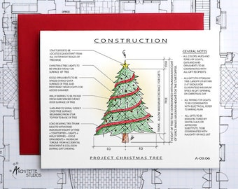 Project Christmas Tree Construction - Instant Download Printable Art - Construction Series