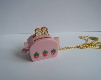 ♥ Pendant toast rose and small strawberries ♥