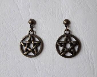 Earrings ♥ ♥ bronze Pentacles
