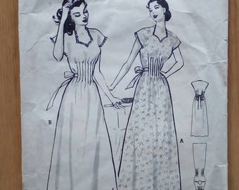 "1950s Nightdress - 32"" Bust - Butterick 509 - Vintage Sewing Pattern"