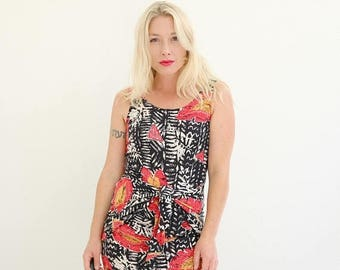 ANNIVERSARY SALE 1990s Tropical L.A. Dress >>> Extra Small to Small