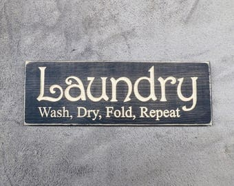 Wooden Laundry Signs For Home Wooden Laundry Sign  Etsy