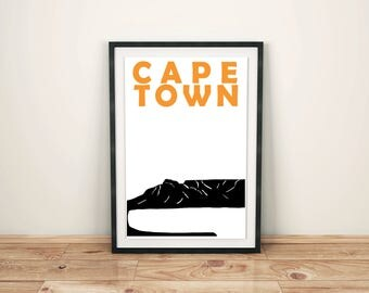 Cape Town Print // South Africa Art Print // Cape Town Art / Cape Town Poster / South African Art / Travel Gift / Travel Print / African Art