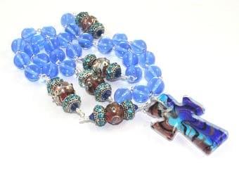 Anglican Rosary, Larger-Size Beads, Ornate Christian Prayer Beads, Handmade