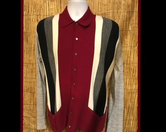 1950s vintage cardigan knit sweater