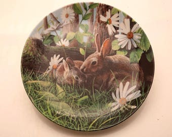 "Vintage Edwin M. Knowles ""The Rabbit"" Plate"