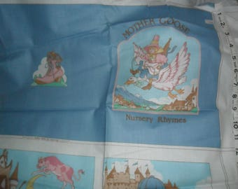 "Vintage ""MOTHER GOOSE Nursery RHYMES"" Book to Create - Instructions on the Fabric"