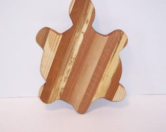 Turtle Cutting Board / Cheese Board Handcrafted from Mixed hardwoods