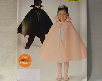 Uncut Simplicity Pattern 0880 Child's Costume with Cape