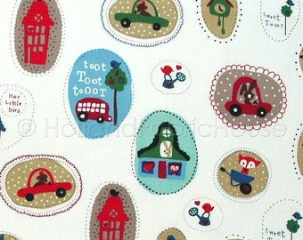 FINAL CLEARANCE SALE Cotton fabric, kids fabric, cars fabric, traffic fabric, Dutch fabric,Toot Toot Driving my Car