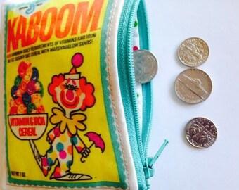 Kaboom Cereal Cosmetic Bag/Wallet Retro Cereal Box Wallet