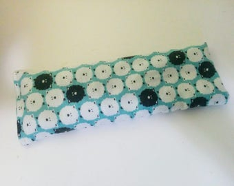 Organic Cotton Eye Pillow - Yoga pillow - unscented or with lavender - blue flannel - counting sheep print