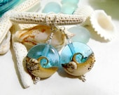 Lampwork Glass Wave Earrings