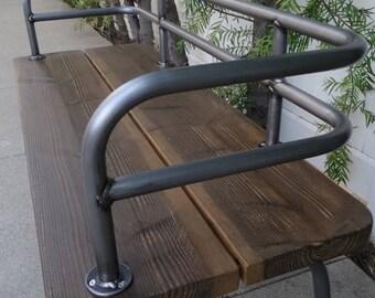 Panka - Indoor/outdoor bench brushed metal finish