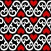 Hearts Fabric - Off With Their Heads! Black White Red By Sandityche - Wonderland Queen Cotton Fabric By The Yard With Spoonflower