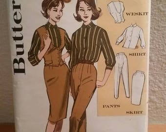 Vtg Butterick Pattern 9468 / Size 14 Bust 34 / Junior and Miss Outfit Makers Tailored Coordinates  / 1960s pattern / pattern instructions