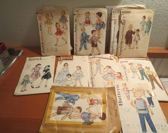 Vtg Sewing Patterns / YOUR PICK / Listing is for 1 / Childrens Patterns 1940s 1950s 1960s / boys patterns / girls patterns /