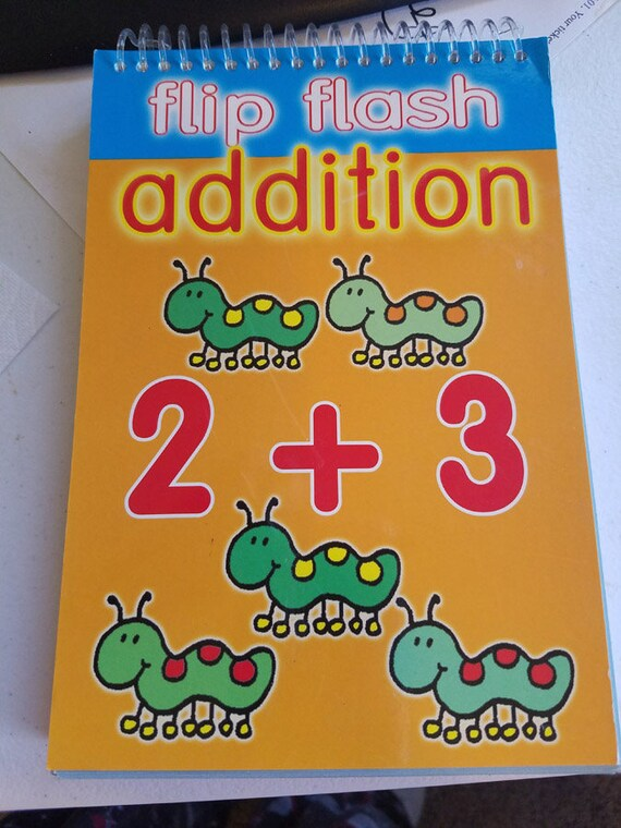 flip flash math addition book school flash cards grade 1-2 early educational home school supply