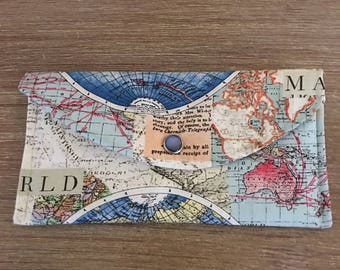 Rand McNally World Map Wallet