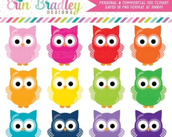 80% OFF SALE Owls Clipart Graphics Instant Download Commercial Use Animal Clip Art