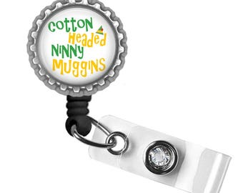 Elf, Badge Reel, ID Tag, Badge Holder, Holiday Gifts, Gifts for Nurses, Gifts for Student Nurses, Gifts for Teachers, Punny Gifts