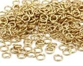 5 mm anneaux - 500 en laiton brut saut anneaux (5x0.80mm) A0820