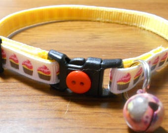 Cupcake Cat Collar, Kitten Collar, Breakaway Collar - girl cat, boy cat