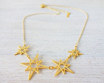 On Sale 40% off, Short Orion Necklace, star necklace, signature necklace, cosmic jewelry