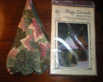 Magic Threads Fairy Houses Doll Quilted House Pattern with Completed Roof Section