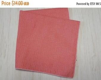 SALE Cloth Napkins Red White Stripes Set of 4