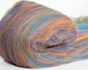 Crystal Cloud 3.6 oz  Wool - Merino // Art Batt // Wool Art Batt for spinning or needle felting