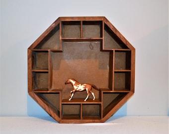 Vintage Curio Box Octagon Rustic
