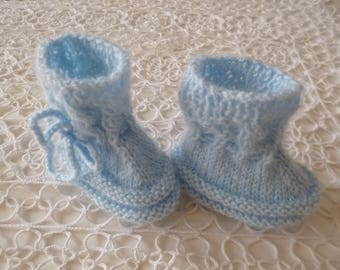 Knitted Newborn Booties, RESERVED for Audrey Marrocco