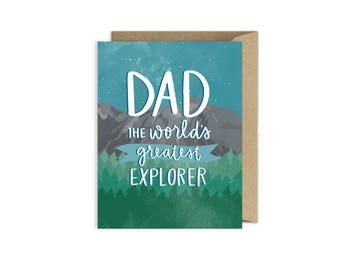 Fathers Day Card | Dad Adventurer Explorer