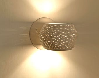 Porcupine Sconce: Designer Ceramic Wall Lighting - LED bulb and UL Listed