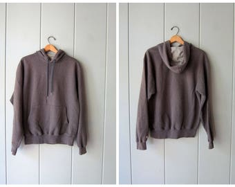 Vintage Gray Champion Hooded Sweatshirt 90s Grey Pullover Sweatshirt Long sleeve Drawstring Hoodie Pullover Sporty Pullover Unisex Medium