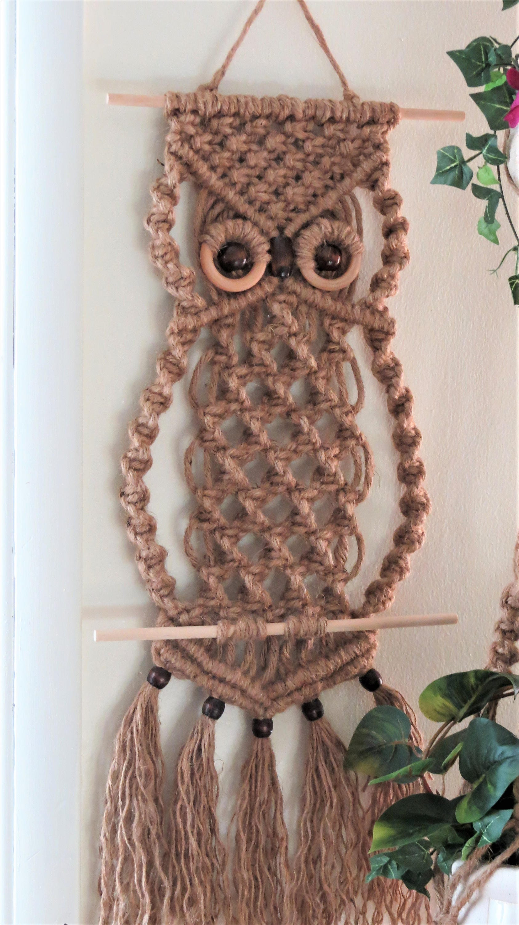 Macrame Decor - Macrame Decoration - 70s Decor - Jute Macrame Plant ...
