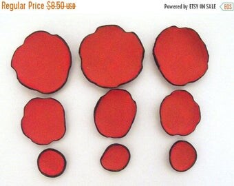 40% OFF SALE Leather craft DIE Cut supplies Pre cut  flowers Jewelry findings Petals Applique
