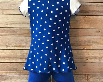 Caribbean Waters Girls size 4 Modest swimsuit  Ready to ship