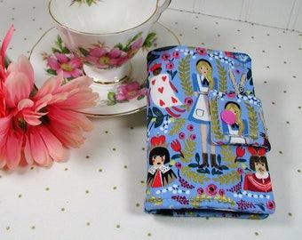 Tea Wallet, Tea Case, Tea Pouch, Travel Tea Bag Pouch, Travel Tea Wallet...Alice in Wonderland, Rifle Paper Co