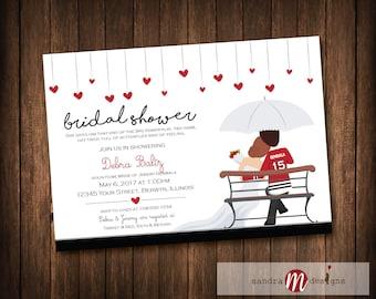 Chicago Blackhawks Wedding Bridal Shower, Wedding Shower Invitations Hockey