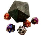 D20 Die Soap with Chessex Die Inside | Black Glitter D20 soap | Tabletop Gaming Soap | Dungeons and Dragons Soap | MtG D&D