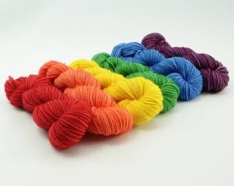 Rainbow Mini Set - Jest SW Merino/Nylon Sock - Spectrum - Choose Your Yardage