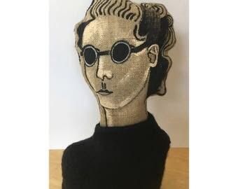 Moira - weighted soft sculpture bust