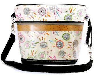 Travel Project Bag Case - Needle & Hook Tool Organizer - Dream Catcher